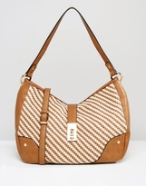 Dune Woven Shoulder Bag