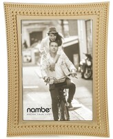 "Nambe 5"" x 7"" Beaded Gold Frame"