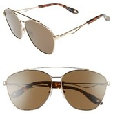 Givenchy Men's 65Mm Navigator Sunglasses - Gold