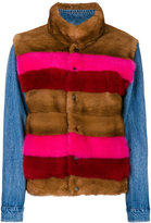Simonetta Ravizza Jean jacket - women - Cotton/Mink Fur - 42