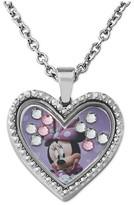 Disney Girls Minnie Mouse Heart Shaker Pendant