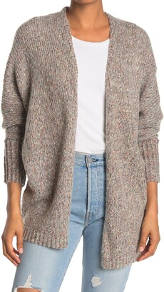 Love by Design Marled Oversized Knit Cardigan