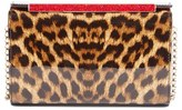 Christian Louboutin 'Vanite' Leopard Print Leather Clutch - Brown