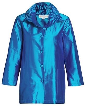 Caroline Rose Silk Shantung Shirt