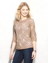 dressbarn Crochet Knit Sweater Petite