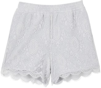 Burberry Lace Overlay Cotton Shorts