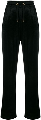 Balmain straight-leg velour track pants