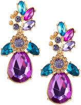 Fragments for Neiman Marcus Statement Floral Crystal Drop Earrings, Multi