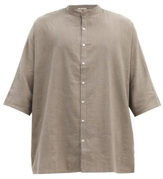 11.11 / Eleven Eleven - Stand-collar Cotton Shirt - Grey