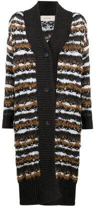 Gentry Portofino Long Striped Knit Cardigan