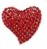 Epinki Women Brooch, Stainless Steel Heart Cubic Zirconia Brooches and Pins Wedding Brooch