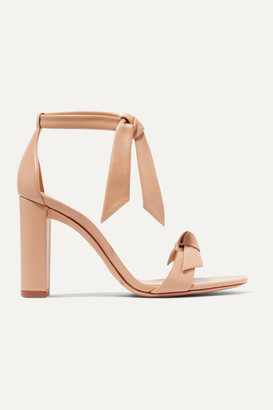 Alexandre Birman Clarita Bow-embellished Leather Sandals - Neutral