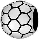 Lovelinks 925 Sterling Silver Small Football Bead