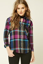 Forever 21 FOREVER 21+ Plaid Cotton Shirt