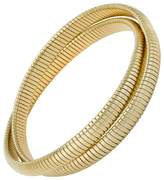 Janis Savitt High Polished Gold Double Cobra Bracelet
