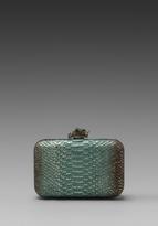 House Of Harlow Dylan Clutch in Aqua Metallic/Brass