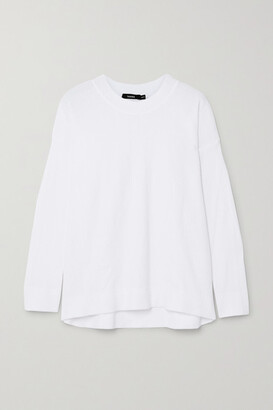 Bassike Waffle-knit Cotton Top - White