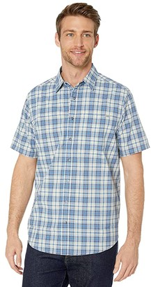 5.11 Tactical Hunter Plaid Short Sleeve Shirt (Baltic Blue Plaid) Men's Clothing