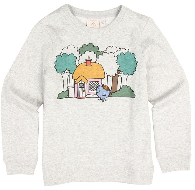 Stella McCartney Sunbeam Girls Little Miss Stella Sweater (Toddler/Little Kids/Big Kids) (Grey Print) - Apparel