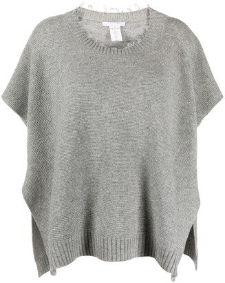 Fabiana Filippi Ribbed Knit Short-Sleeved Jumper