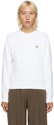 MAISON KITSUNÉ White Fox Head Sweatshirt