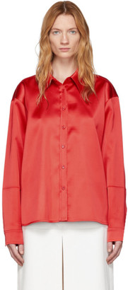 we11done Red Satin Shirt