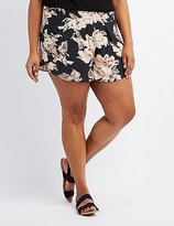 Charlotte Russe Plus Size Floral Dolphin Shorts