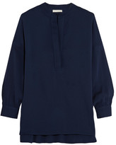 Vince Stretch-silk Blouse - Navy