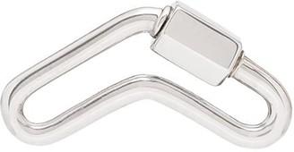 14kt White Gold Boomerang Lock Charm