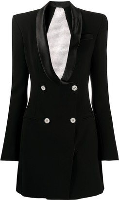 Philipp Plein crystal embellished short suit jacket dress