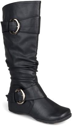Journee Collection Paris Buckle Mid-Calf Boot