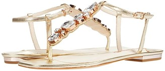 Sophia Webster Ritzy Flat Sandal (Champagne) Women's Shoes