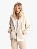 Mother The Zip Up Hoodie - Ivory