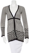 M Missoni Swirl Striped Cardigan