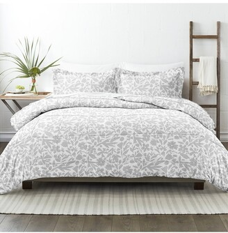 Home Collection Down Alt Abstract Garden Patterned Comforter Set