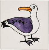 3dRose cst_1103_3 Sammy Seagull Ceramic Tile Coasters, Set of 4
