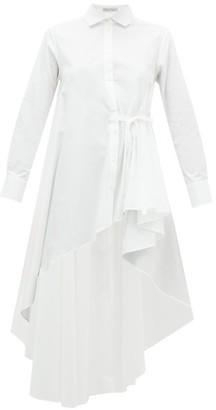 Palmer Harding Palmer//harding - Super Asymmetric Cotton-blend Shirt - Womens - White