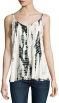 Raga Embroidered Burnout Camisole, Black/White