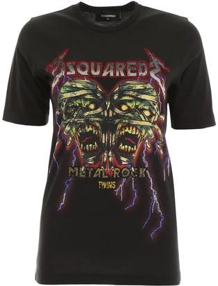 DSQUARED2 Metal Rock Print T-Shirt