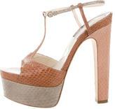 Brian Atwood Python Platform Sandals
