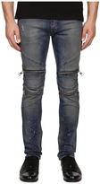 Just Cavalli Vintage Dirty Black Moto Denim Men's Jeans