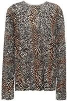Equipment Leopard-print Wool Sweater