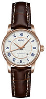 Mido Baroncelli Automatic Brown Leather Watch