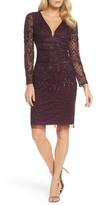 Adrianna Papell Women's Embellished Deep V-Neck Sheath Dress