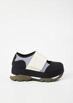 Marni black / white platform sneaker