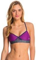 Roxy Women's Carribean Sunset Criss Cross Sports Bra Bikini Top 8137534