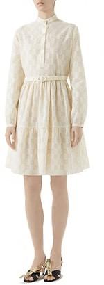 Gucci Micro GG Sangallo Macrame A-Line Dress