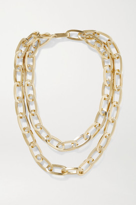 Jennifer Fisher Double Large Essential Gold-plated Necklace