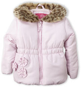 Weatherproof Infant Girls) Faux Fur Collar Jacket