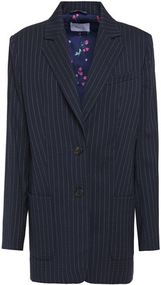Racil Alfie Pinstriped Stretch-wool Blazer